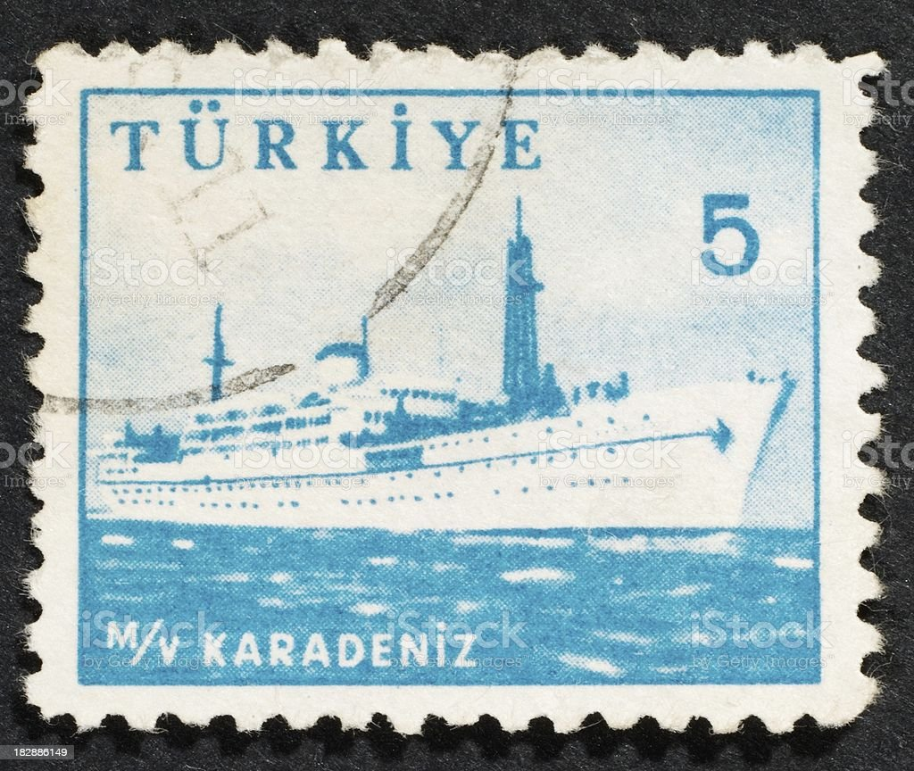 Turkish postage stamp stock photo