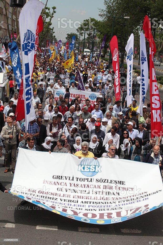Turkish public workers strike royalty-free stock photo