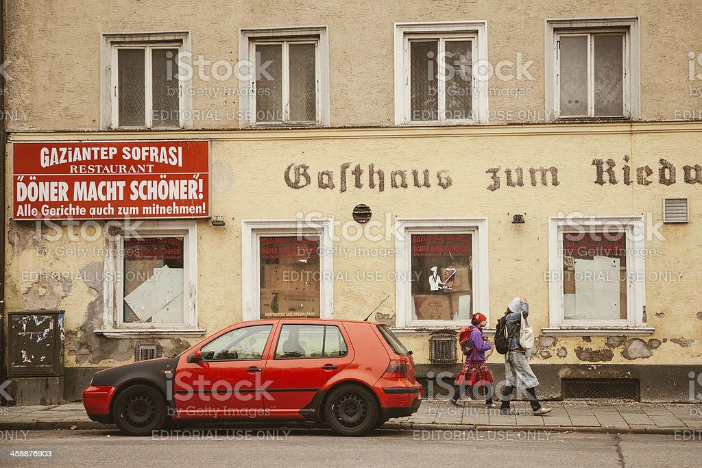 Turkish quarter in Munich royalty-free stock photo