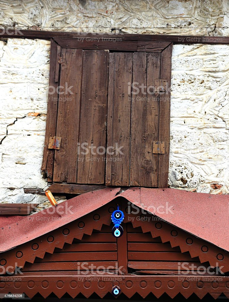 Turkish roof stock photo