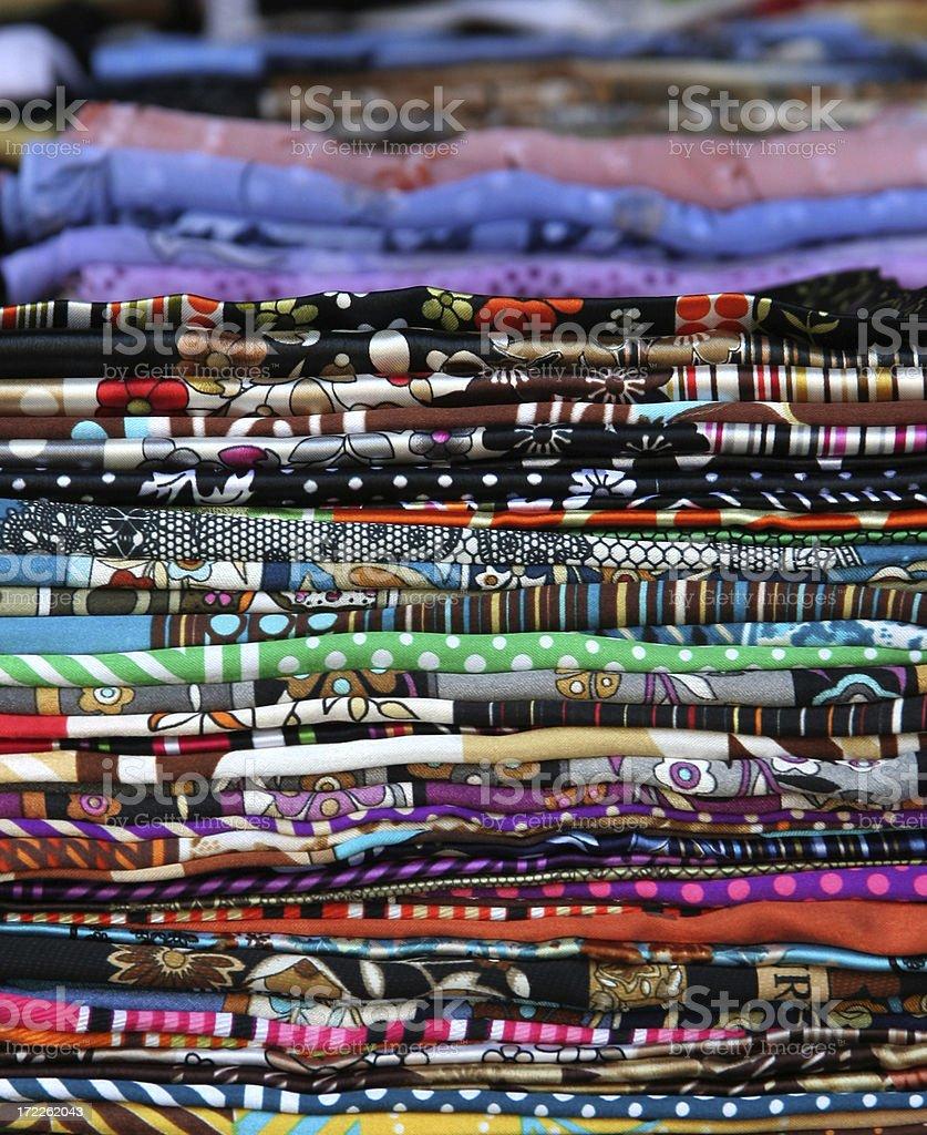 Turkish scarfs royalty-free stock photo