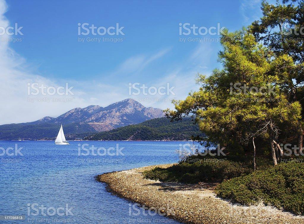 Turkish seascape stock photo