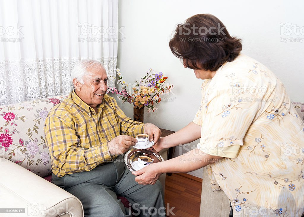 Turkish Seniors royalty-free stock photo