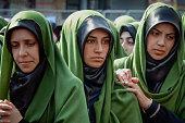 Turkish Shia women mourn during an Ashura procession in Istanbul