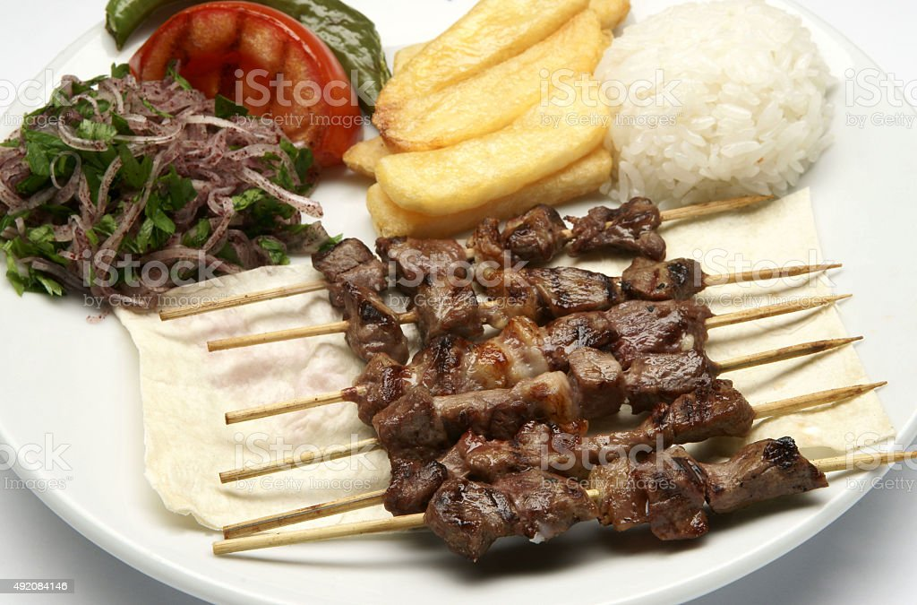 turkish shish kebab stock photo