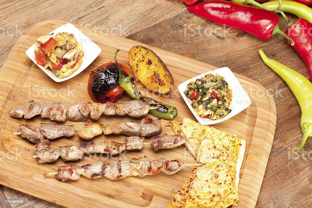 Turkish Skewer (shish) Kebab royalty-free stock photo