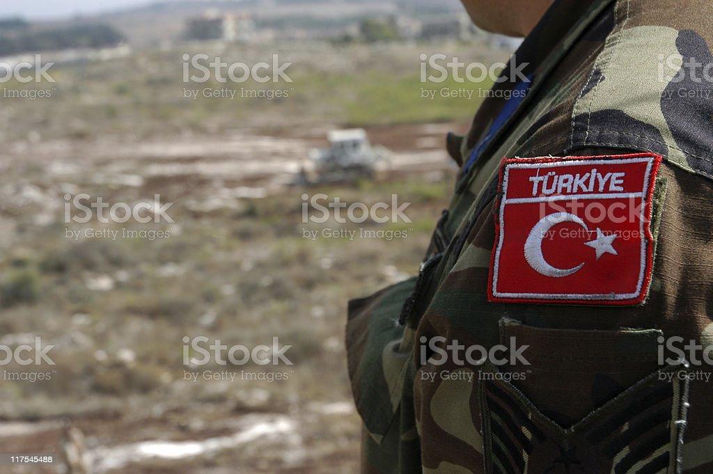 Turkish Soldier stock photo