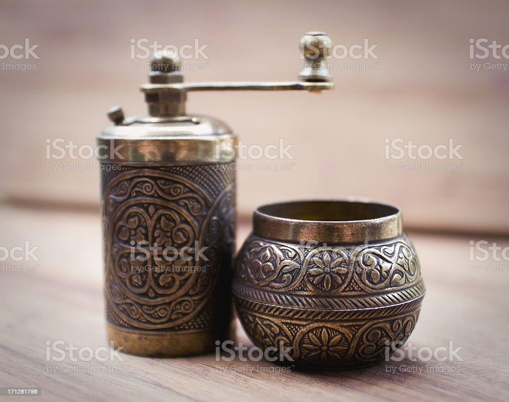 Turkish spice grinder royalty-free stock photo