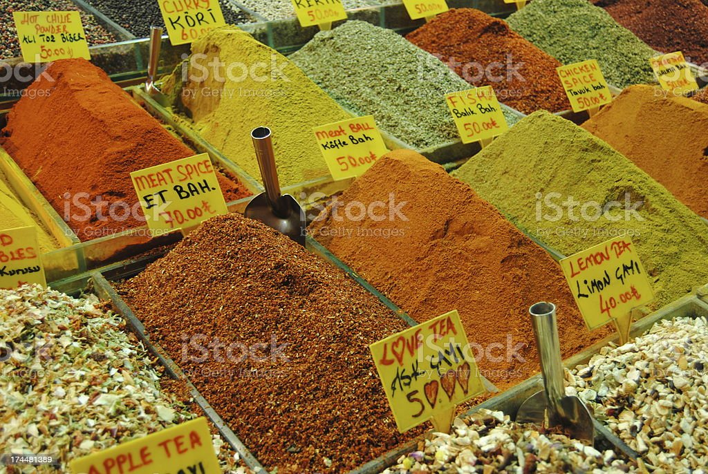 Turkish Spices stock photo
