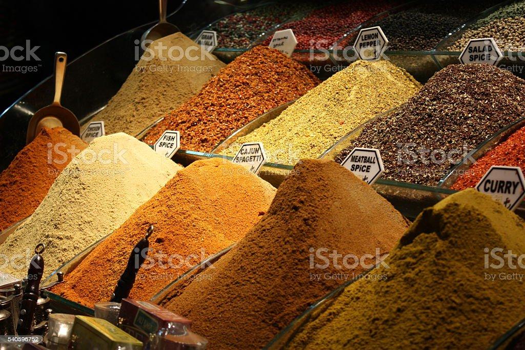 Turkish spices stock photo