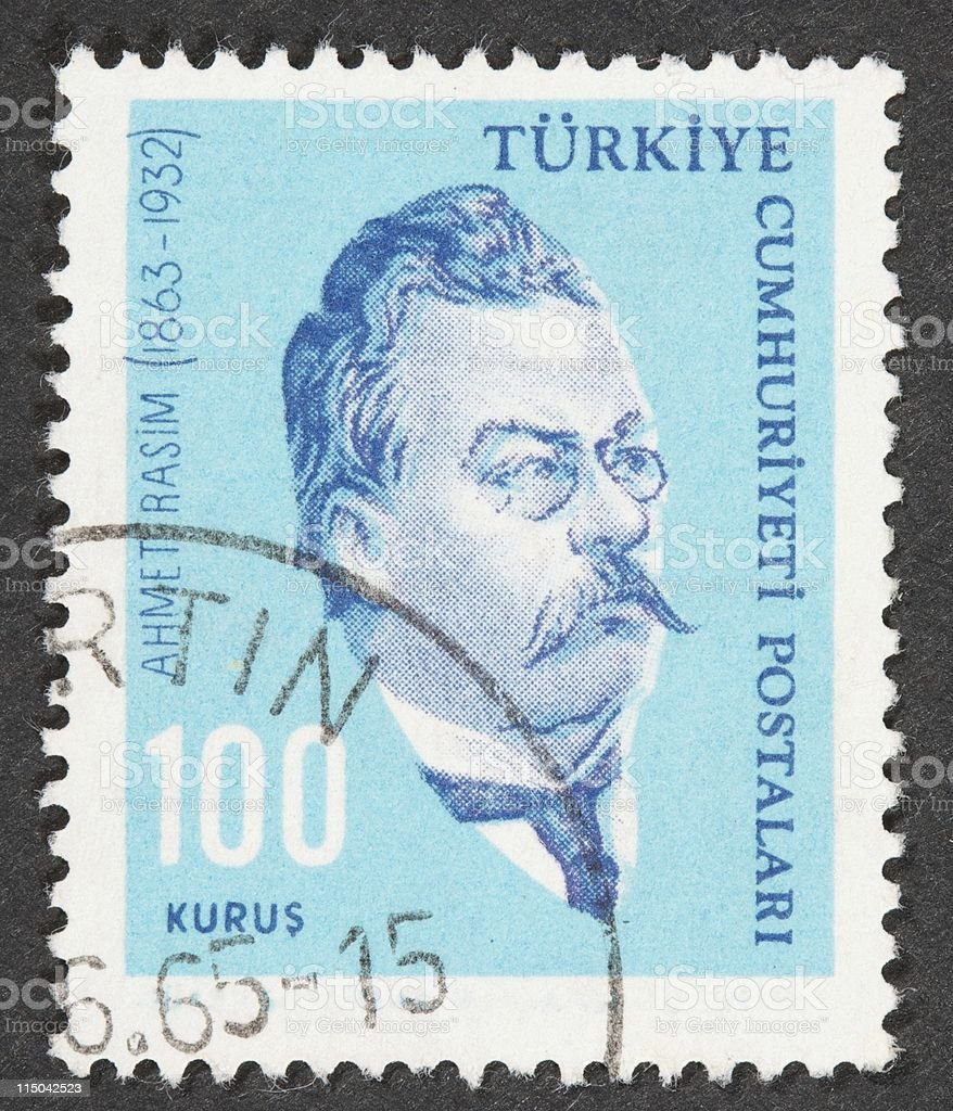 Turkish Stamp stock photo