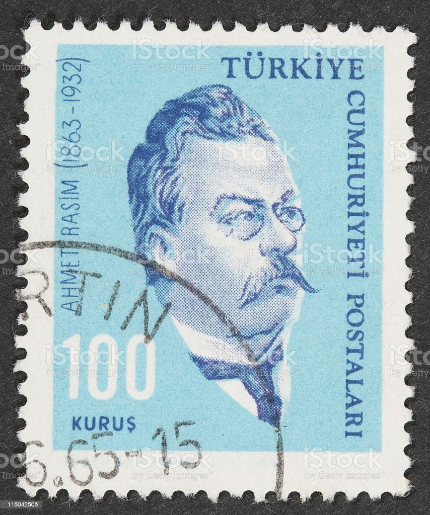 Turkish Stamps stock photo