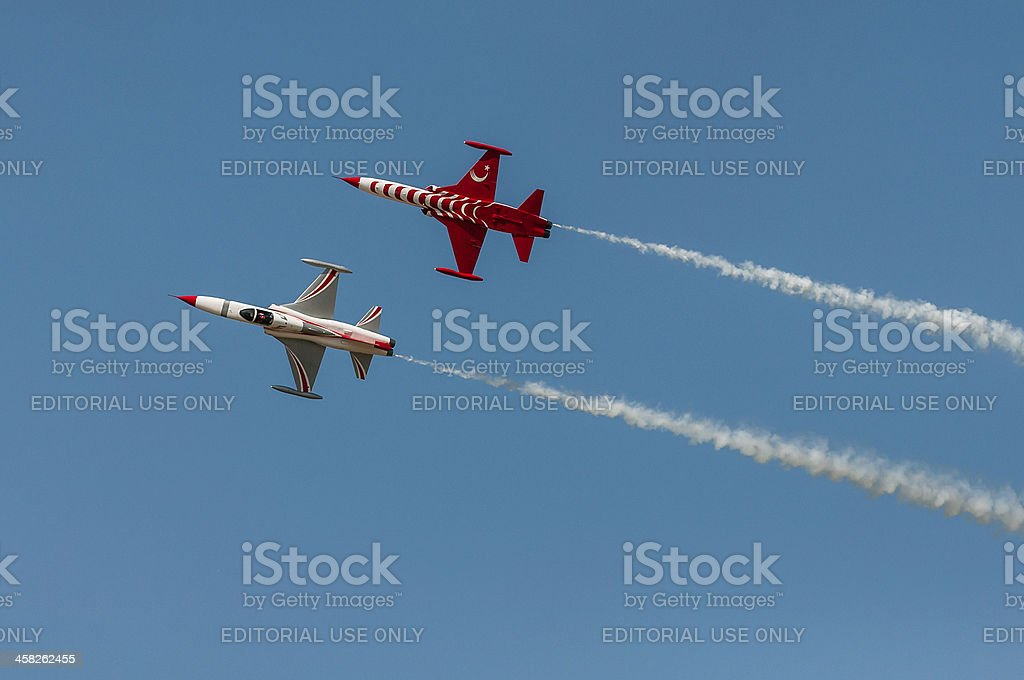 Turkish Stars flying together royalty-free stock photo