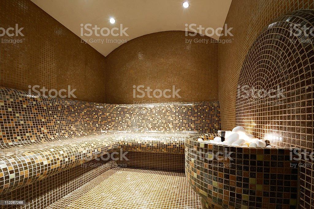 Turkish steam bath stock photo