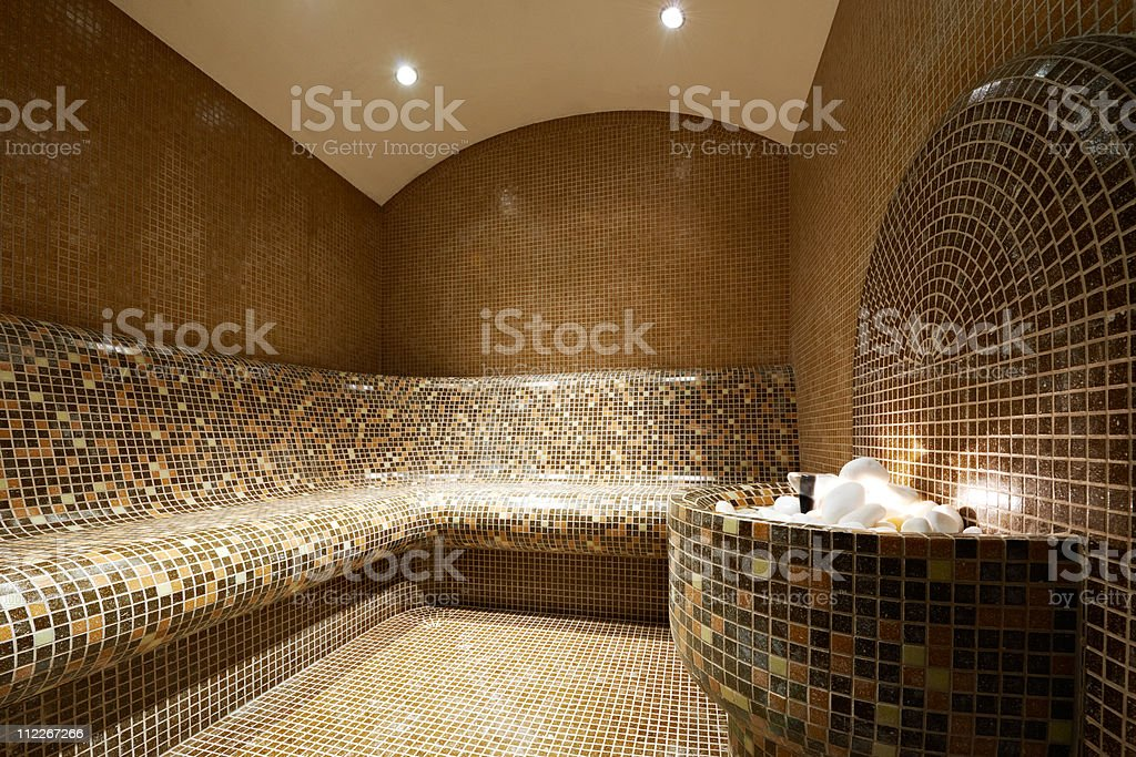 Turkish steam bath stock photo