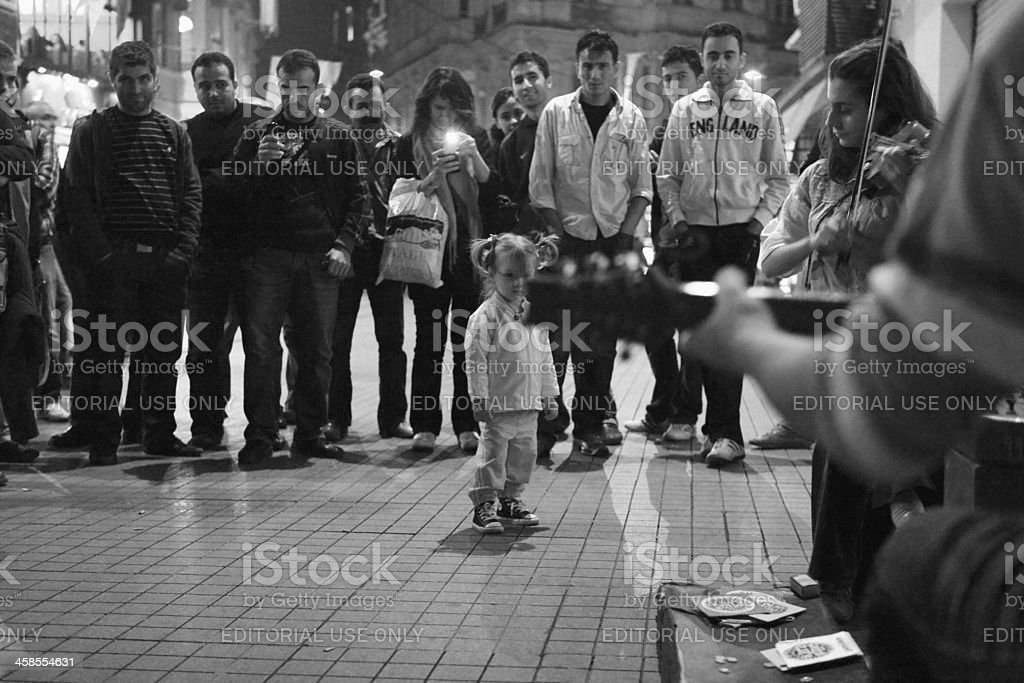 Turkish Street Band Kara Gunes, Istanbul stock photo