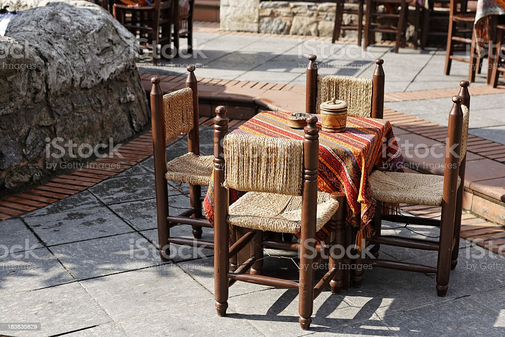 Turkish Street Cafe stock photo
