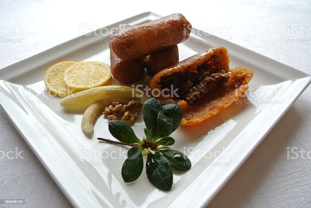 Turkish Stuffed Meatballs stock photo