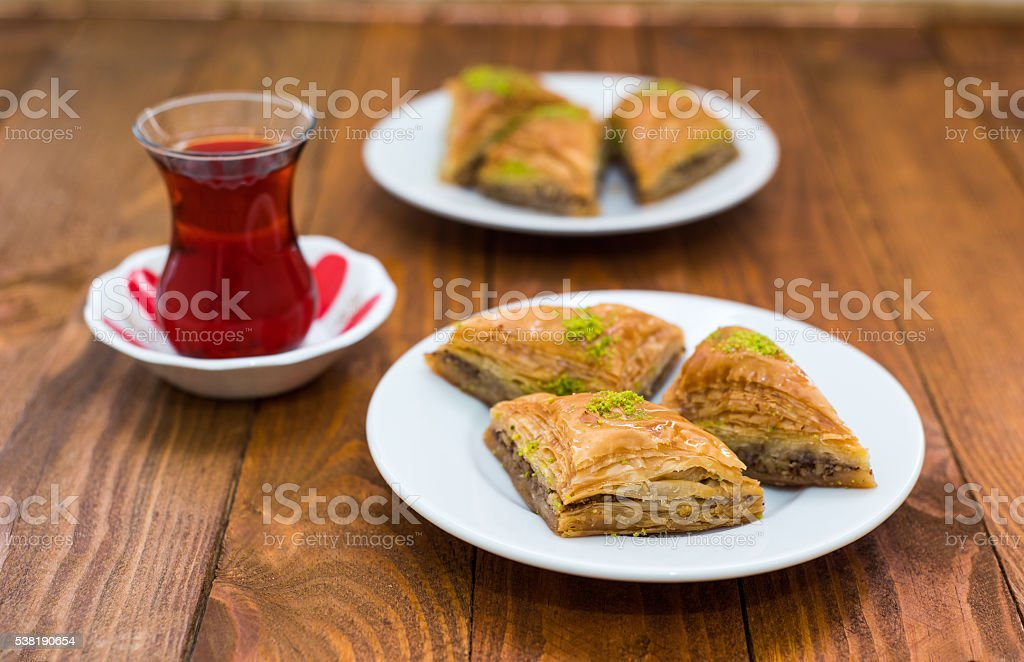 Turkish sweet: Baklava. stock photo