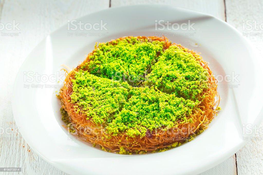 Turkish Sweet dessert Kunefe stock photo