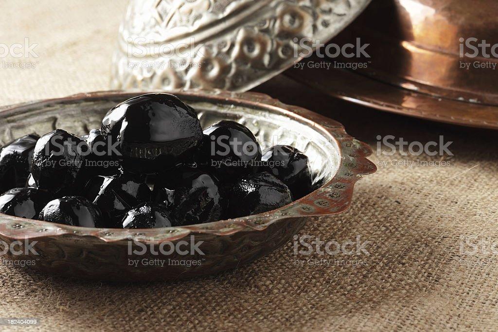 Turkish Sweet Food Fig dessert royalty-free stock photo