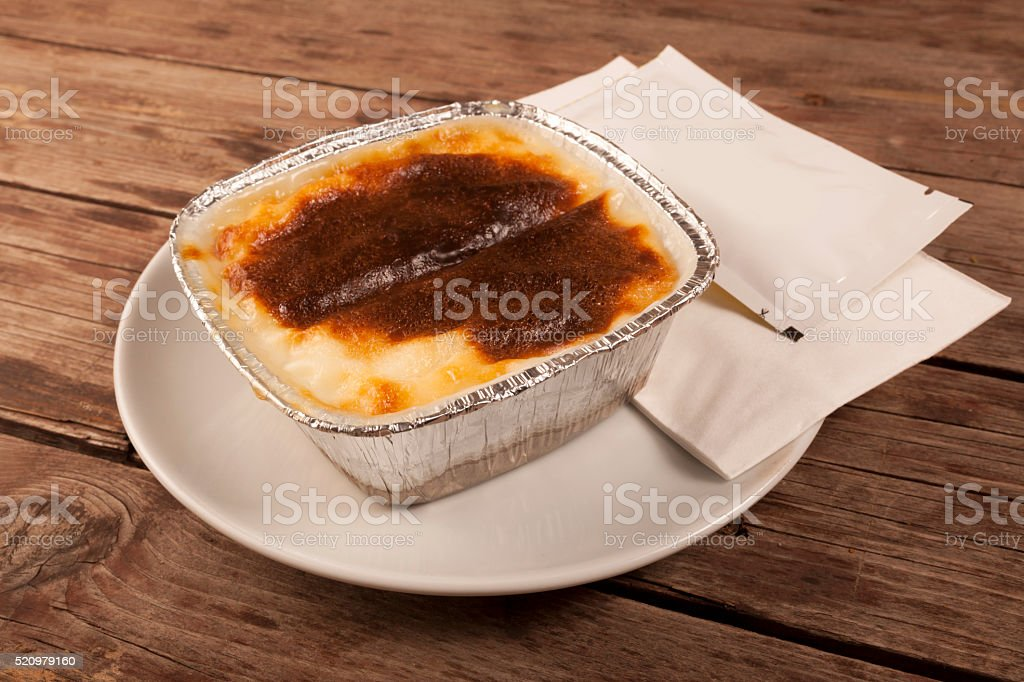 Turkish Sweet Food Kazandibi stock photo