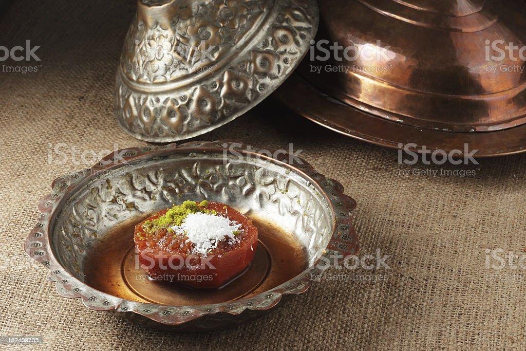Turkish Sweet Food Quince Dessert royalty-free stock photo