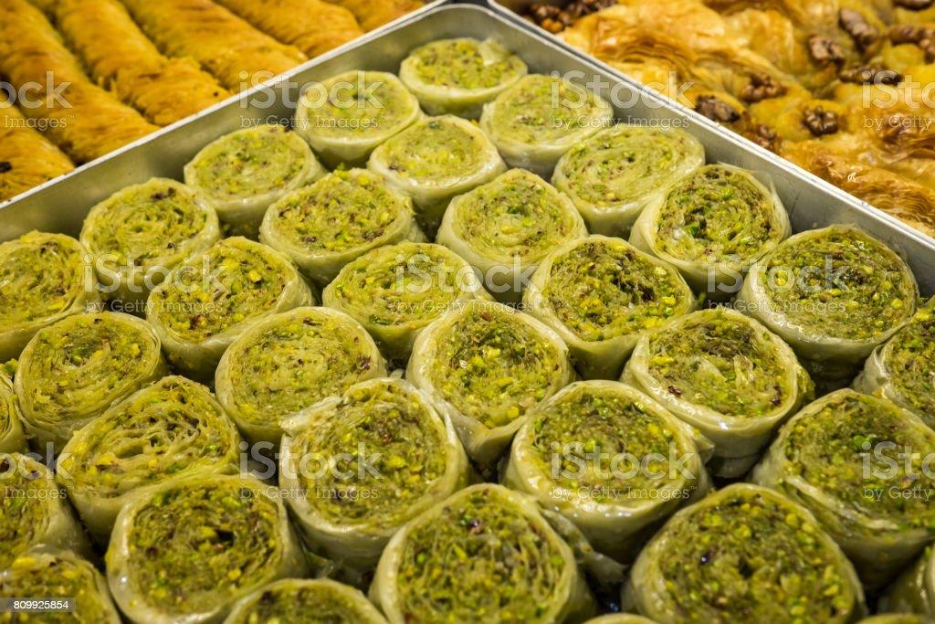 turkish sweet stock photo