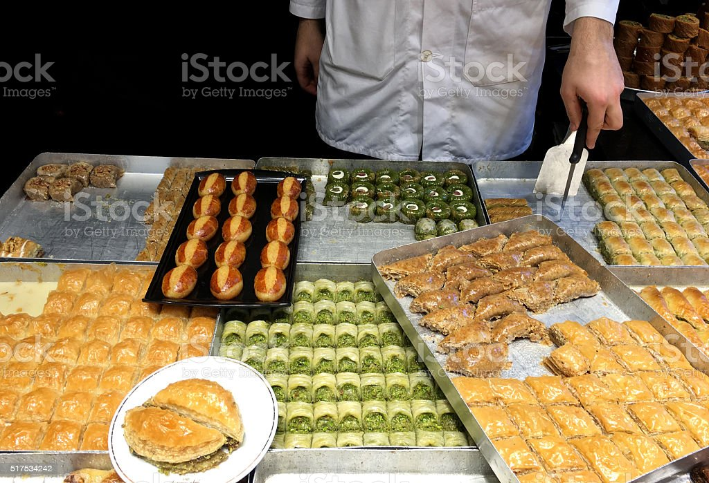 Turkish Sweets / Istanbul stock photo