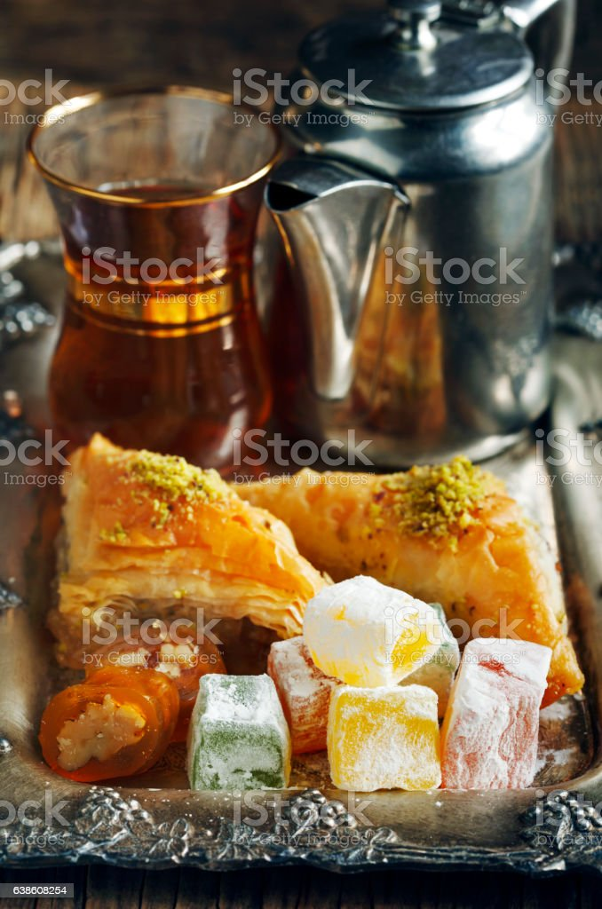 Turkish sweets. stock photo