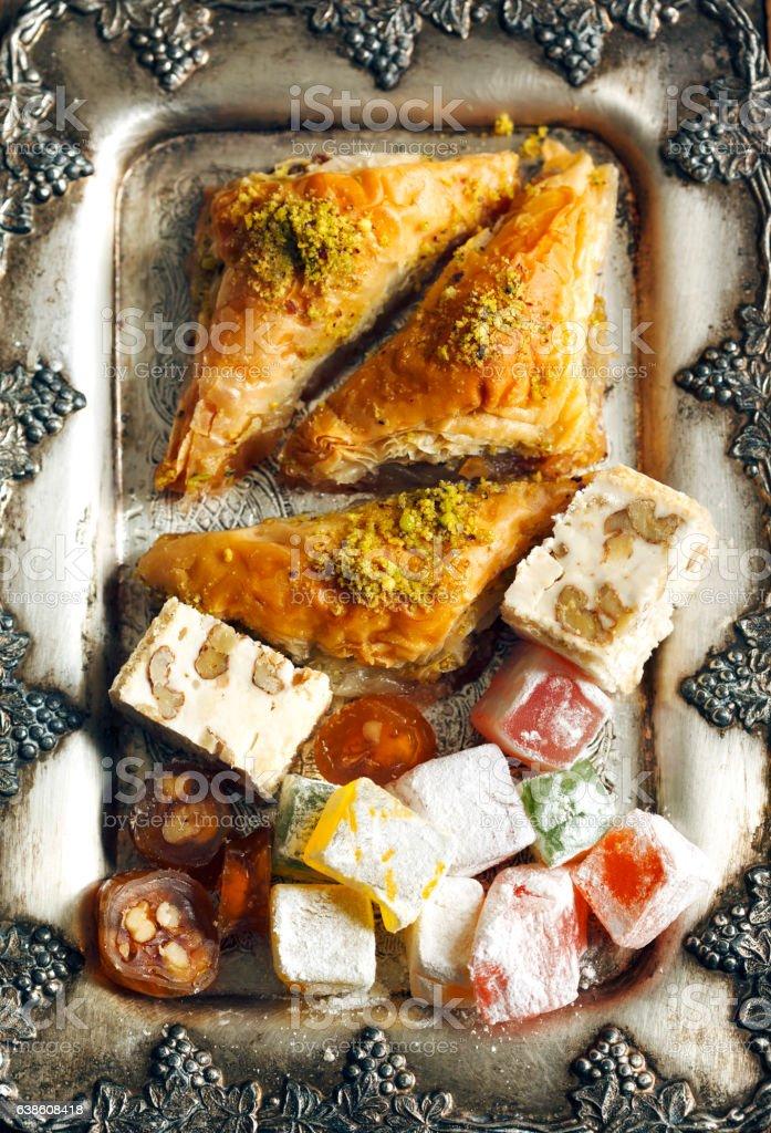 Turkish sweets. stock photo