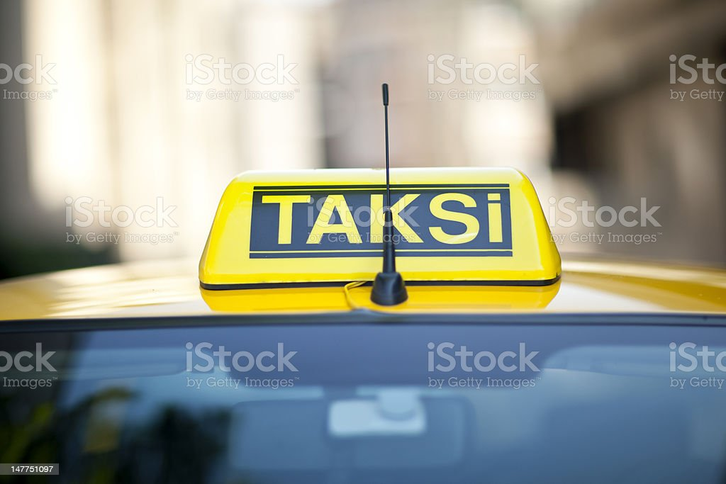 Turkish taxi sign royalty-free stock photo