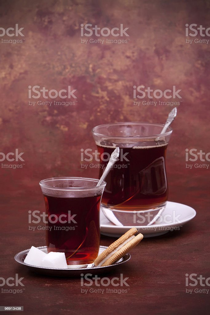 Turkish tea and cookie royalty-free stock photo