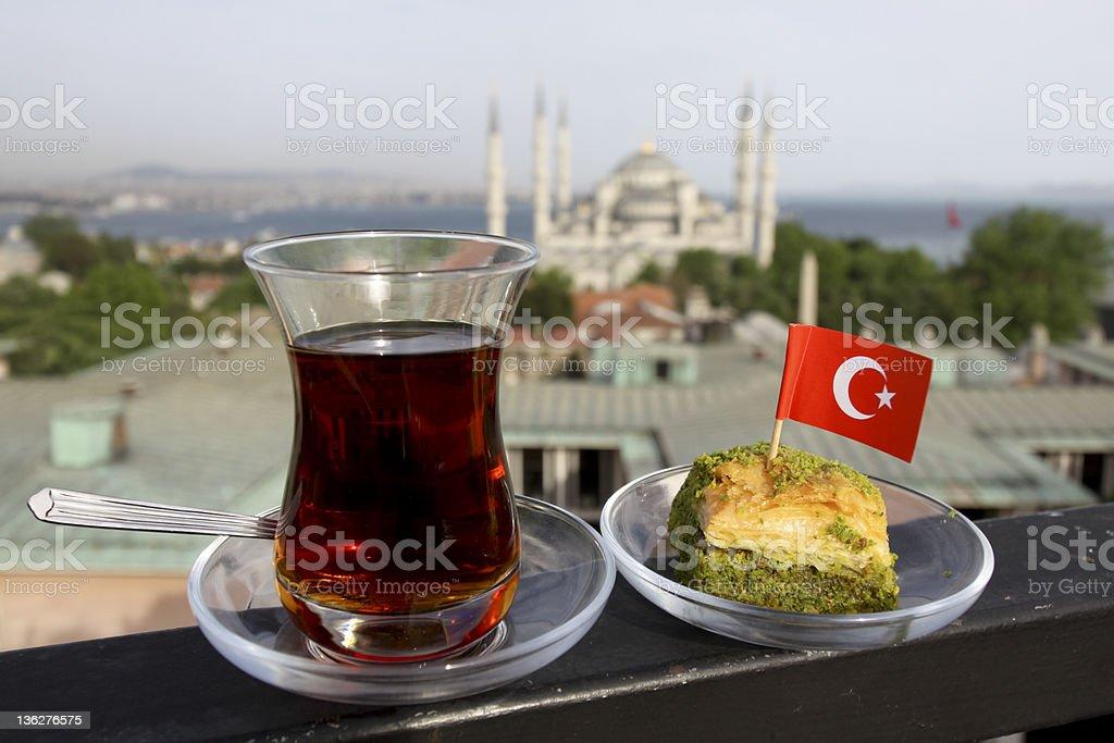 Turkish Tea in Istanbul, Turkey stock photo