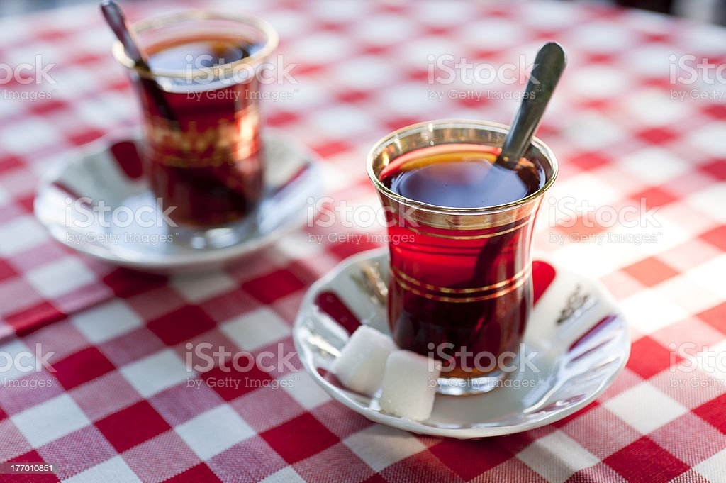 Turkish tea in traditional teacups royalty-free stock photo