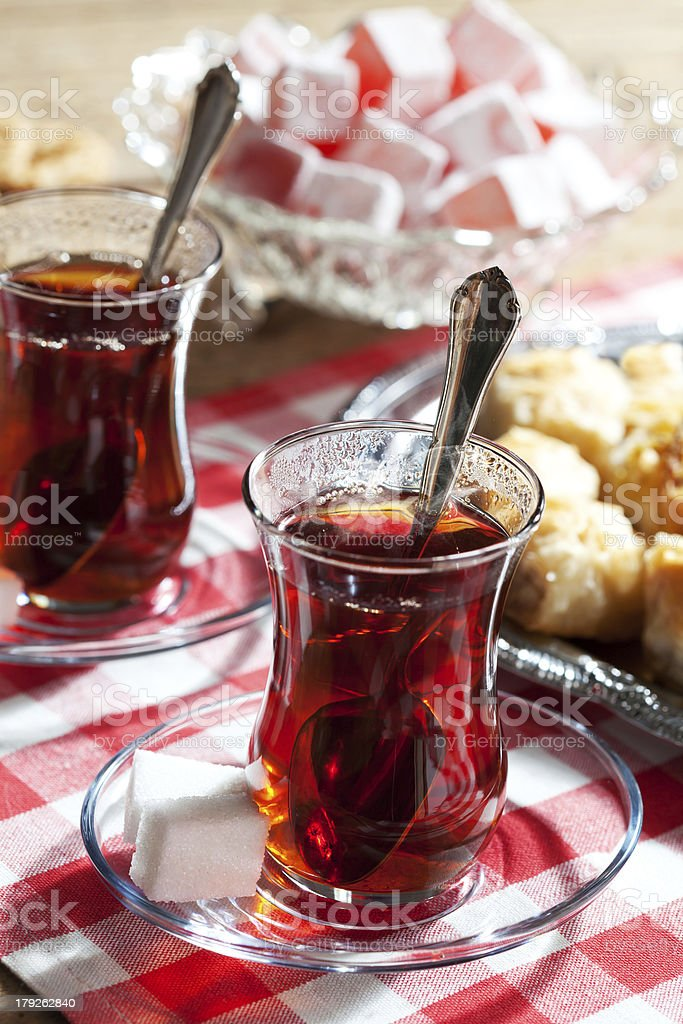 Turkish tea royalty-free stock photo
