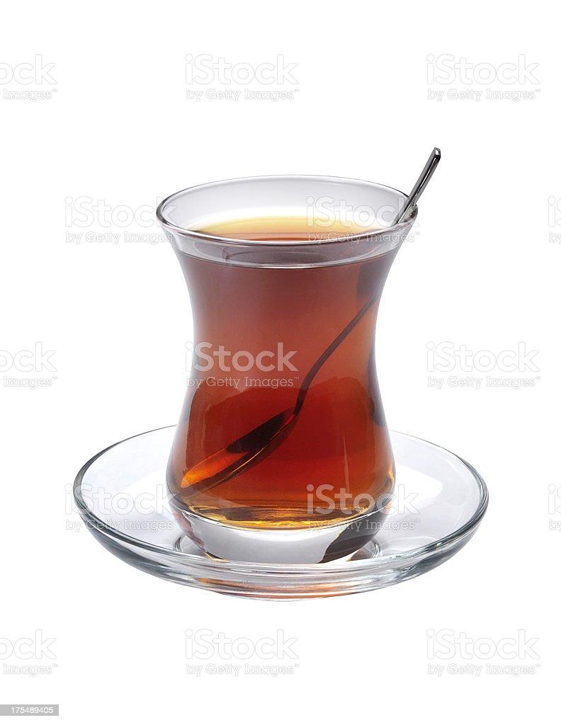 Turkish Tea+Clipping Path royalty-free stock photo