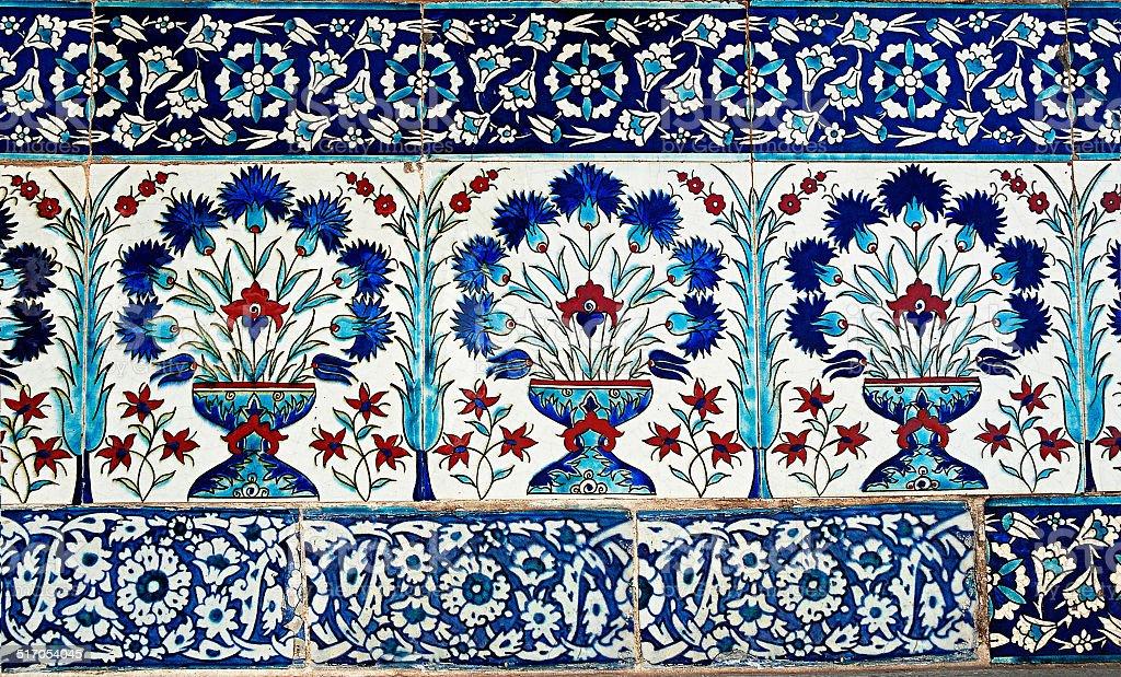 Turc carrelage dans le palais de Topkapi, Istanbul, Turquie photo libre de droits