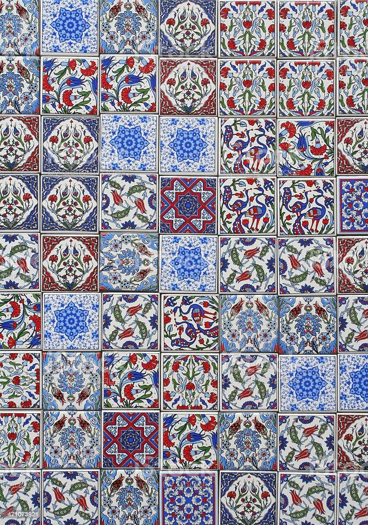 Turkish Tile samples royalty-free stock photo