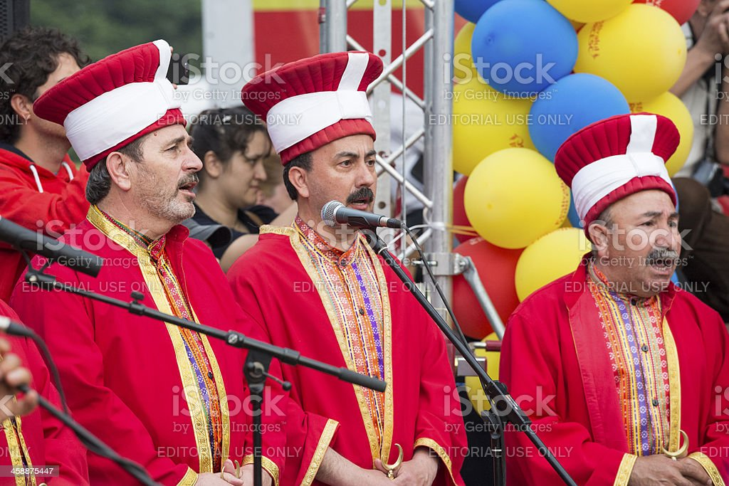 Turkish traditional military fanfare royalty-free stock photo