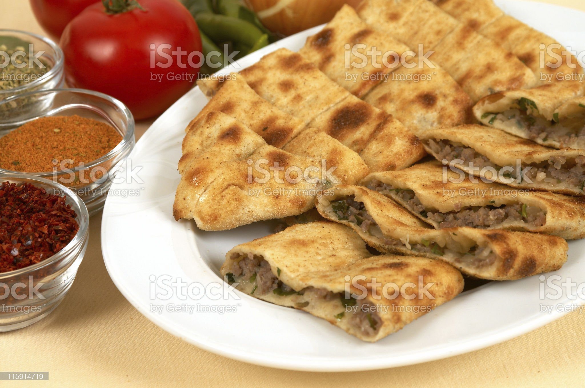 turkish traditional pide royalty-free stock photo