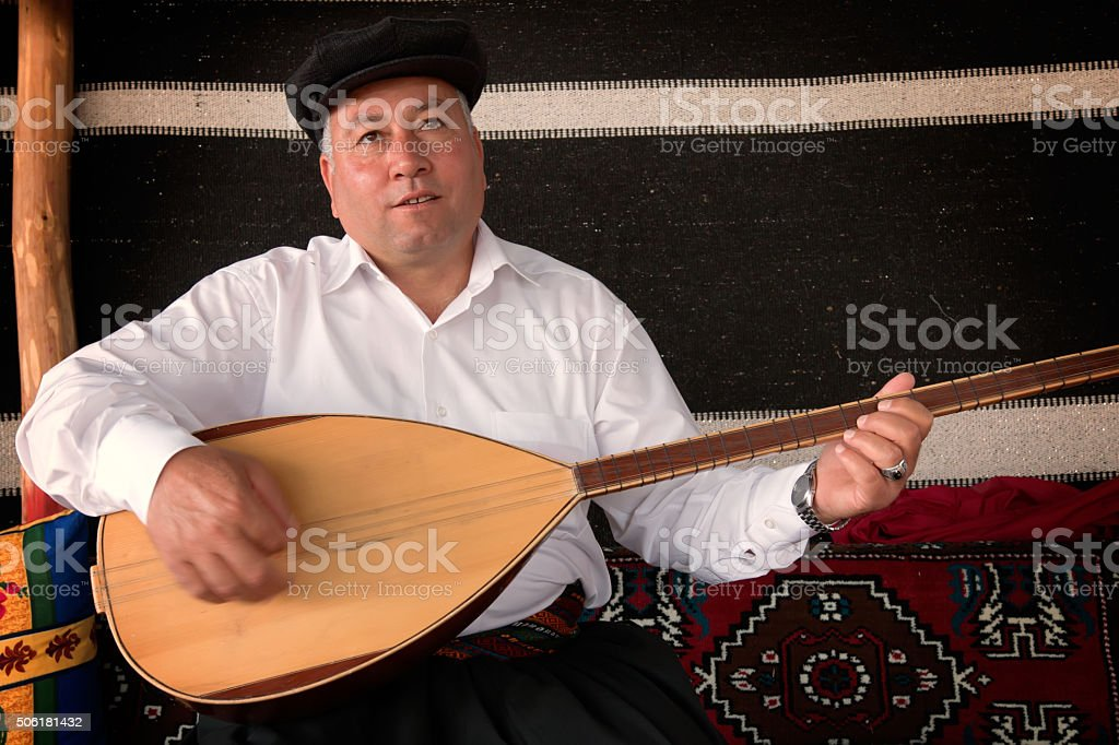 Turkish traditional singer stock photo