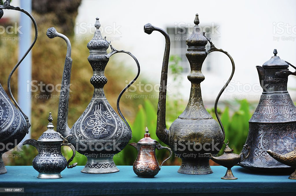 Turkish/arabic coffee/tea pot royalty-free stock photo