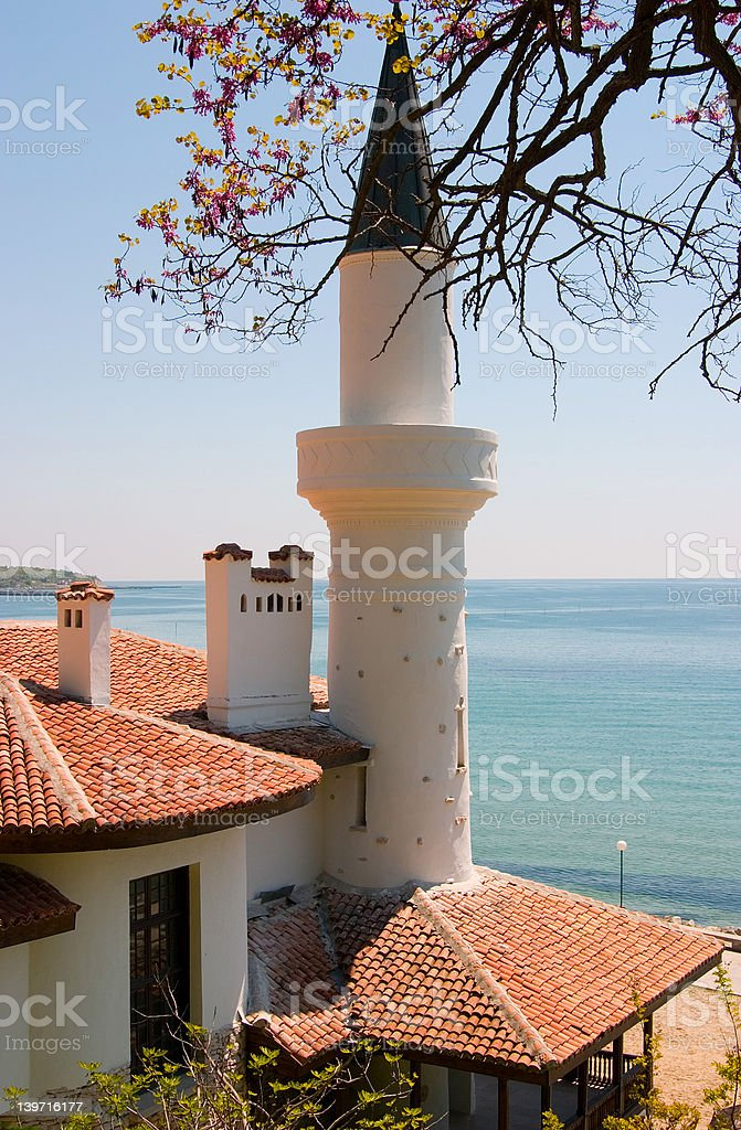 Turkish-style tower royalty-free stock photo
