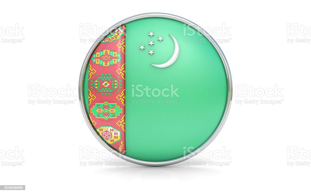 Turkmen flag stock photo