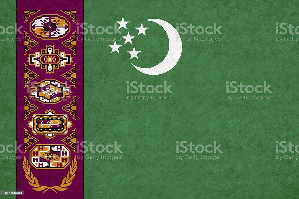 Turkmenistan flag royalty-free stock photo