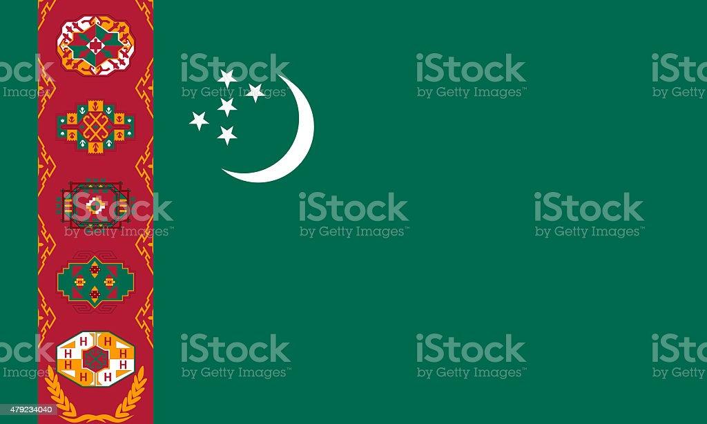 Turkmenistan flag stock photo