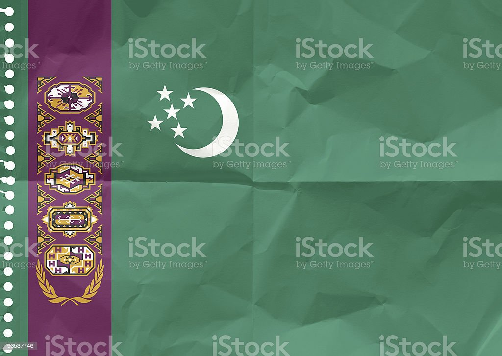 Turkmenistan, the Flag stock photo