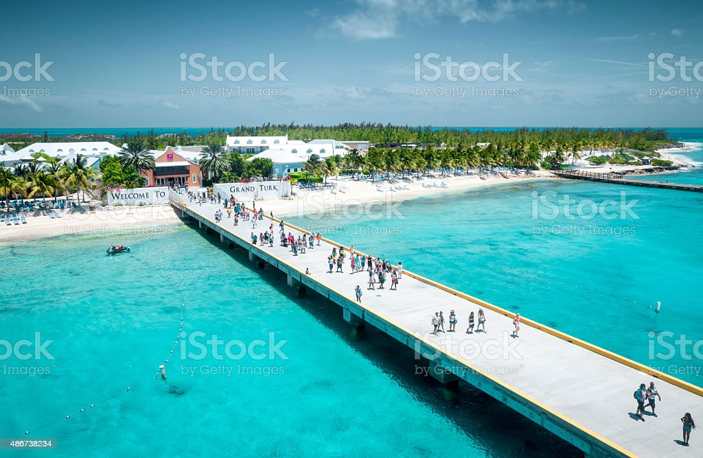 Turks and Caicos - Grand Turk island stock photo