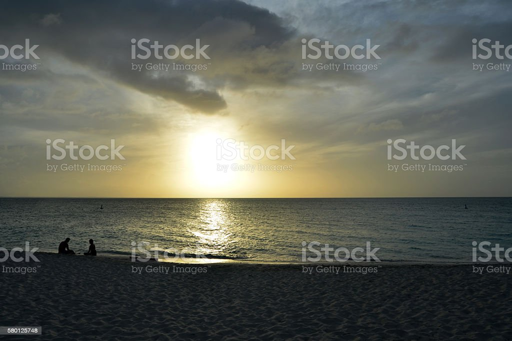 Turks and Caicos Sunset stock photo